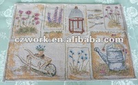Woven tapestry jacqaurd fabric table mats for sell