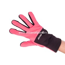 Pink Fleece Low Cost High Quality Conductive Material On Thumb, Index Finger And Middle Fingers Running Glove
