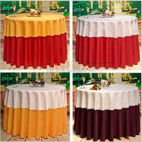 fabric painting designs on wedding table cloth