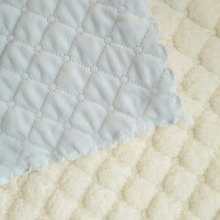 wholesale soft single sided quilted emboss baby blanket fabric