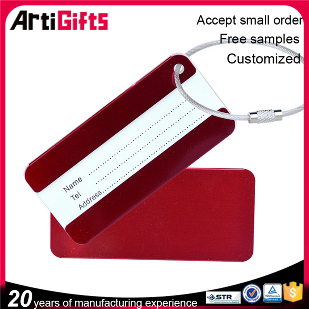 Wholesale metal luggage tag for metal accessory