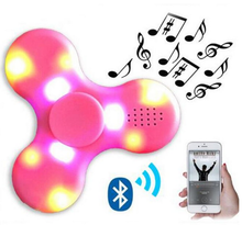 Factory Price Portable Wireless Blue tooth Speaker Fidget Hand Spinner With LED LIGHT Toyes For Kids and Adult decompression