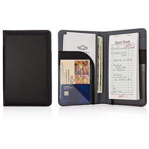 Holds restaurant Guest Checks & Server Pads for Waiters Premium Server Book Waiter Book Organizer