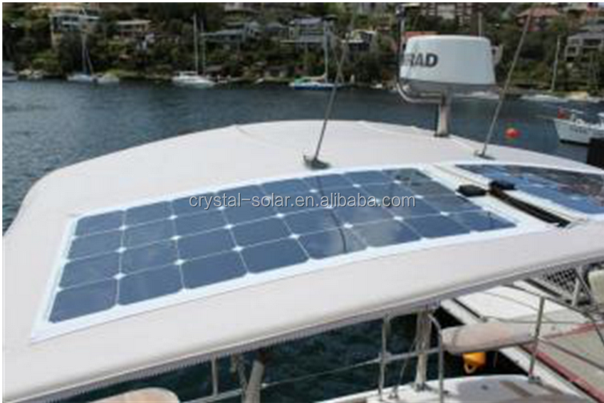 High quality factory price 100W flexible sunpower panel for marine, cars, camping vehicles
