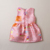 Children clothing jacquard graffiti fabric dress summer little girls dress