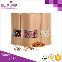 Free Sample Pet Food Doypack Kraft Paper Bag With Clear Window