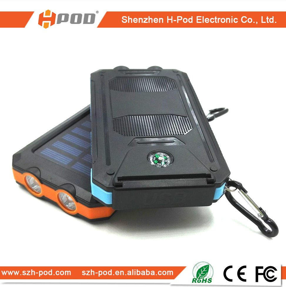 newest power bank solar car charger with 2 USB 2.0 Output