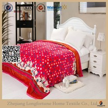 Manufactory alibaba china home textile custom warm flannel fleece blanket stocks 2ply or 1ply organic led light blanket