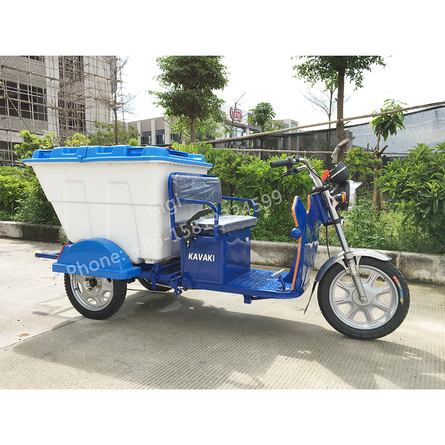 Cheap price good quality thee wheel electric 20Ah60V cleaning garbage tricycle for sale