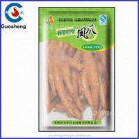 Food grade three side heat seal foil bags for Chicken feet packaging made in china factory