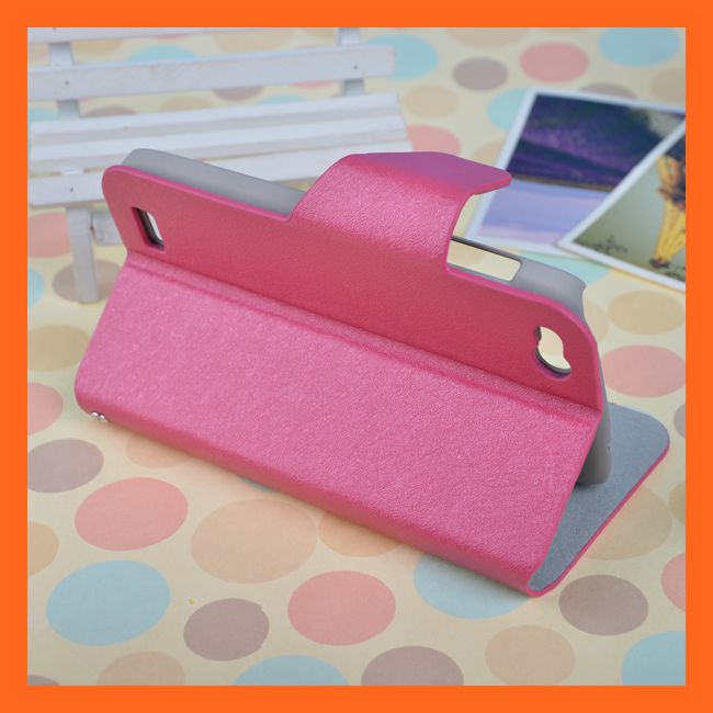 Alibaba China Supplier Pink Leather Flip Case For Fly IQ 4410
