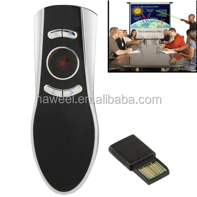 2.4GHz Wireless Transmission Multimedia Presenter with Laser Pointer & USB Receiver for Projector