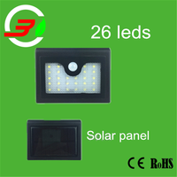 powerful solar led lamp ,batteries for solar porch lights with 26 leds