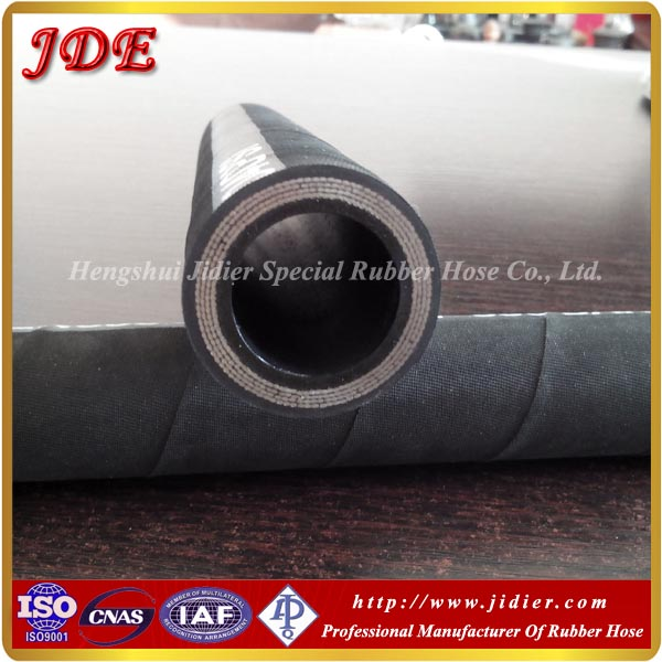 Top quality!SAE 100 R9 four high tensile steel wire reinforcement oil and abrasion resistant industrial rubber hose pipe