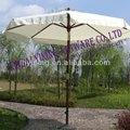 10' round tilt wood garden umbrella YN7019