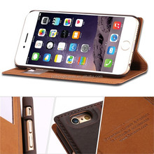 Cowhide Genuine Leather Cell Phone Case For Apple iPhone 6 Plus 5.5 inch Back Cover For iPhone6 With View Window