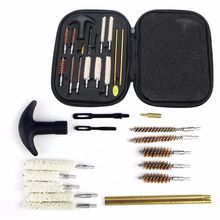 Universal Cleaning Kit, -for All Caliber Hand Guns. 9mm 22 357 30 38 40 44 45 Hand Guns - Bronze Metal Brushes Brass Rods