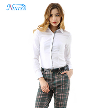 2018 Hot selling lady office uniform blouse design