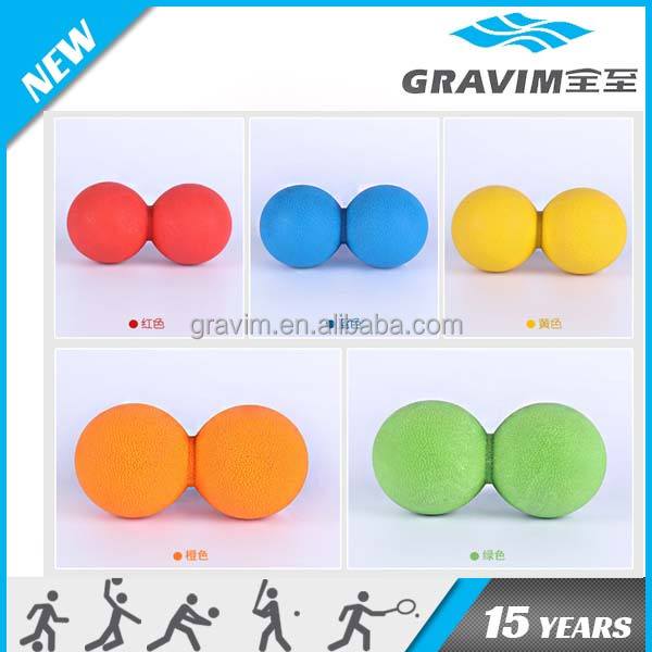 silicone colorful anadesma ball peanut shape ball for yoga products