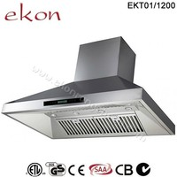 SAA CE GS CB Approved 2000 M3/Hr Twin Motors Screen Touch Control 4 LED Lights Canopy 120mm Commercial Kitchen Range Hood