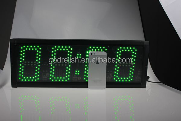 Godrelish 4 or 6 or 9 digital super brightness led countdown timer,led count up timer,led timer