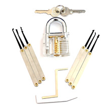 Locks Transparent Visible Cutaway Practice Kit Padlock Door Lock Pick Training Skill For Locksmith Beginner