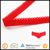 Beautiful design high tenacity red 9mm picot underwear elastic for lingeries waistband