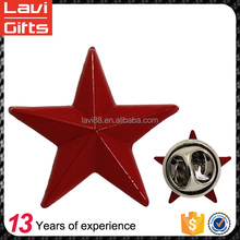 Hot Sale High Quality Factory Price Custom Star Shape Metal Lapel Pin Wholesale From China