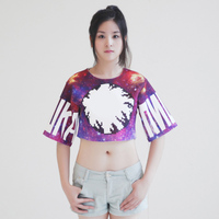 korea ladies fashion clothing t-shirt for all over sublimation printing