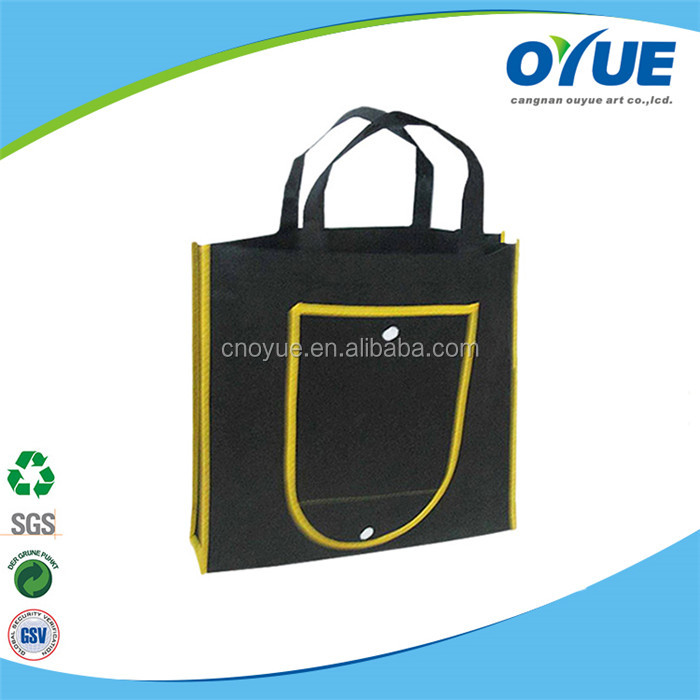 Customized colorful cheap foldable tote fashion design nonwoven bag, recycle nonwoven bag