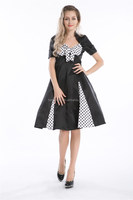 Pleated Polka Dot Rockabilly Dress Pin Up Swing 50s 60s cocktail prom dress
