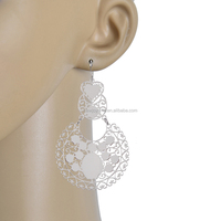 New Fashion 925 Silver Charming Filigree Stamped Earrings With Low Price