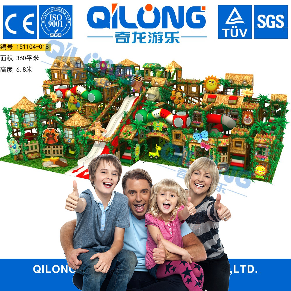 Newest style Customized indoor playground Size,Cottages theme kids indoor playground equipment prices