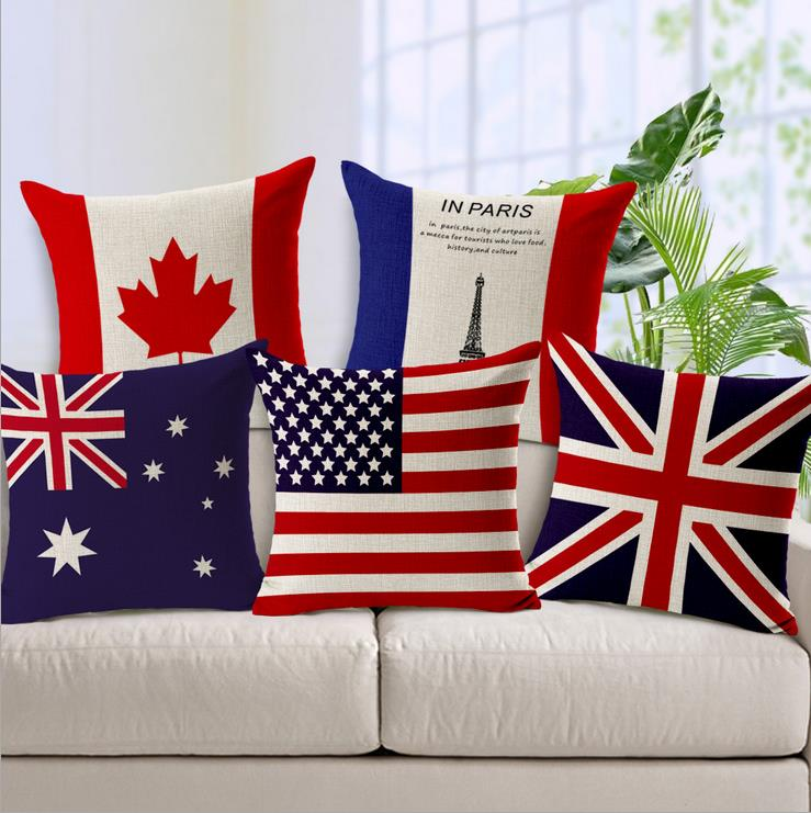 Wholesale Custom Printing Flag Cushion Covers Pillow Cover