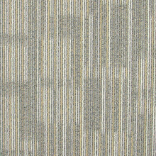 Yellow Mixed Grey Stripe Colorful PP Carpet Tile with Soft Backing