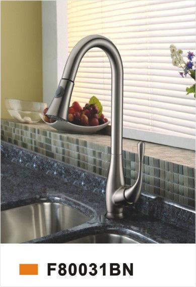 F80031BN New Eastplumbing Peerless Brush Nickle Single Handle Widespread Brass Kitchen Faucet Mixer Taps