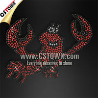 Funny lobster rhinestone custom iron on transfer