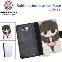 For Samsung Galaxy i9100 S2 Sublimation Leather Case