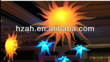 Club Decorative Inflatable Hanging LED Lighted Sun Shape