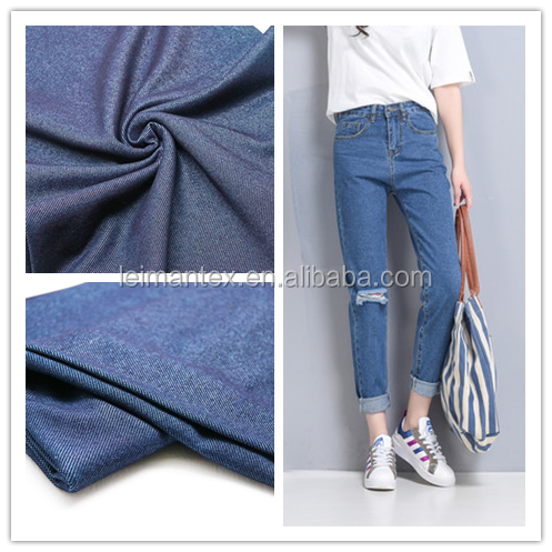 China manufacturer twill knitted denim cotton fabric