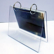 V shaped table tent acrylic calendar display racks, perspex picture stand shelf, lucite sign holder
