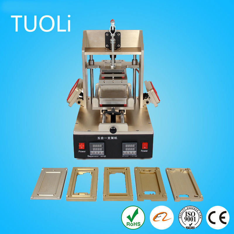 5 in 1 Mobile LCD Making Machine LCD Glass Removal Extraction Glue Remove Frame Bezel Bonding Machine