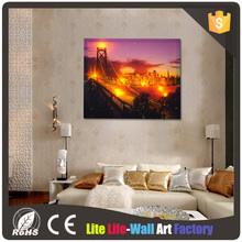 CE ROSH Certified Light Up picture LED Colorful Canvas Painting with Various Size