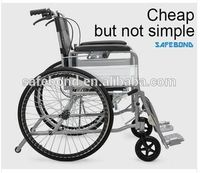 High Quality Sturdy Wheelchair/Soft Manual Wheelchair /Steel Folding Chromed Manual Wheelchair