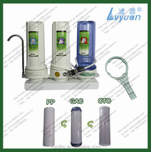 PP GAC CTO under counter three stage home water filters with 10 inch filter housing