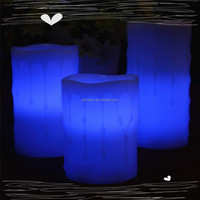 New style manufacturing color change glow wick candle LED