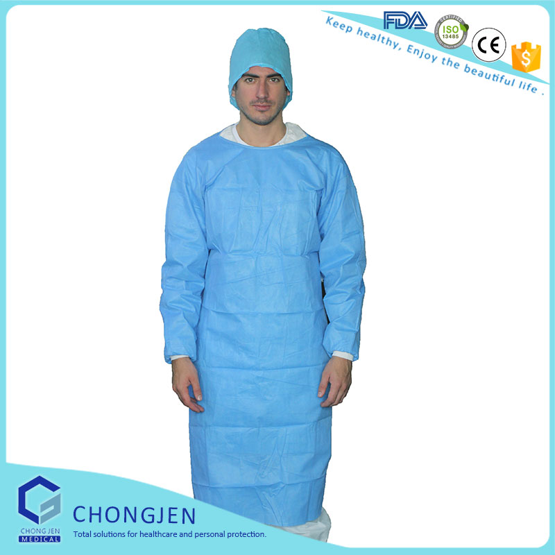 disposable PP/non-woven/SMS surgical gown,isolate gown