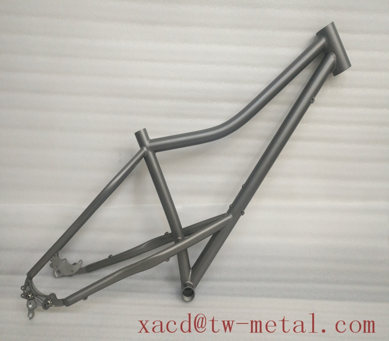 Fat bike Titanium fat bicycle frame with rocker dropouts Custom titan mtb bicycle frame