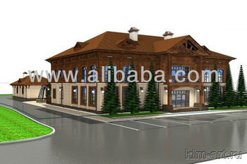Timber house set (hotel+restrant)