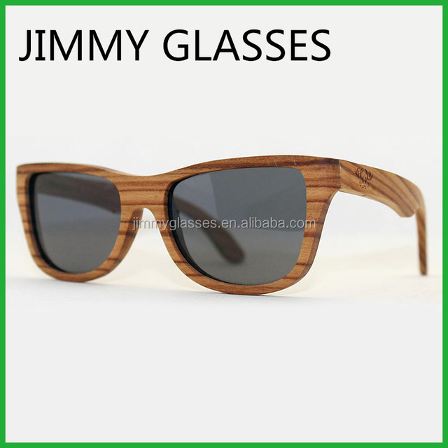 Cheap Bamboo Wood Sunglasses Custom Engraved Logo Real Zebra Wood Polarized Sunglasses